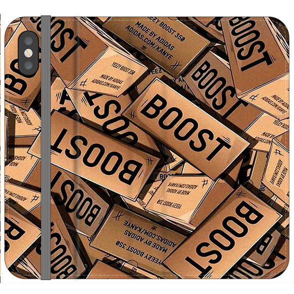 Yeezy Boost 700 Box Pattern iPhone X Flip Case | Frostedcase
