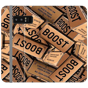 Yeezy Boost 700 Box Pattern Samsung Galaxy Note 8 Flip Case | Frostedcase