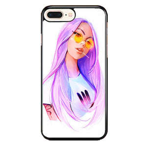 A Purple Hair Girl Draw iPhone 8 Plus Case | Frostedcase