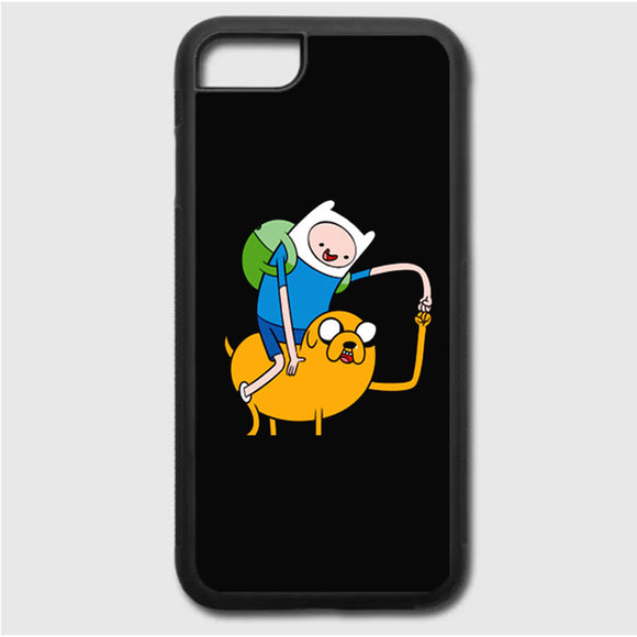 Adventure Time Black iPhone 7 Case | Frostedcase
