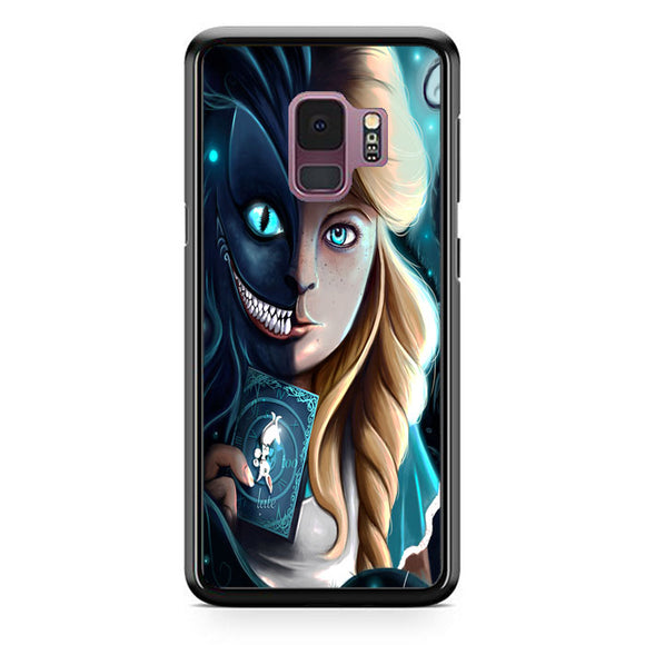 Alice And Cheshire Cat Art Samsung Galaxy S9 Case | Frostedcase