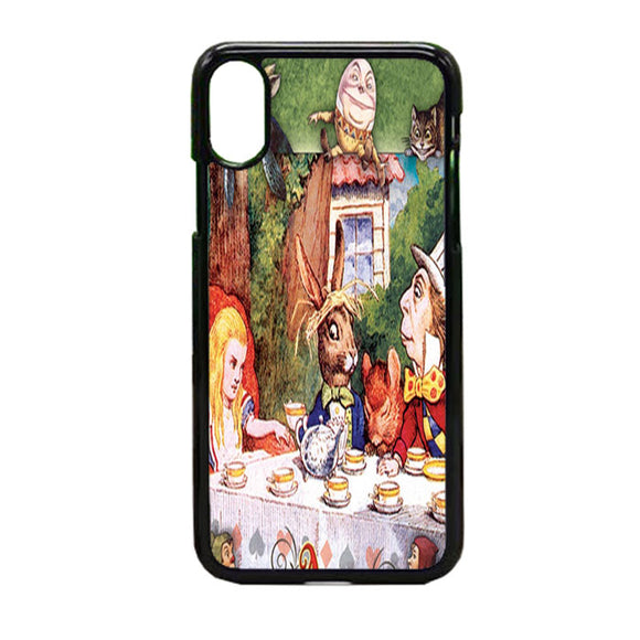 Alice In Wonderland Mad Hatters iPhone X Case | Frostedcase