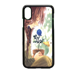 Anime Girl Happy Alone iPhone X Case | Frostedcase