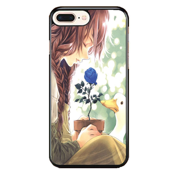 Anime Girl Happy Alone iPhone 8 Plus Case | Frostedcase