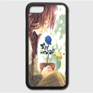 Anime Girl Happy Alone iPhone 7 Case | Frostedcase