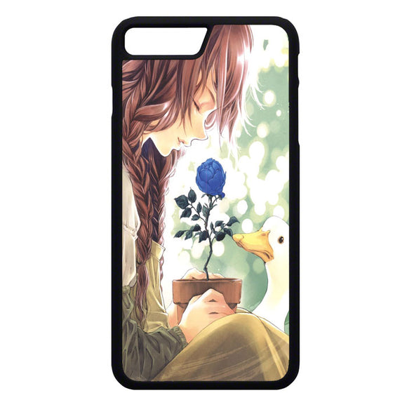 Anime Girl Happy Alone iPhone 7 Plus Case | Frostedcase