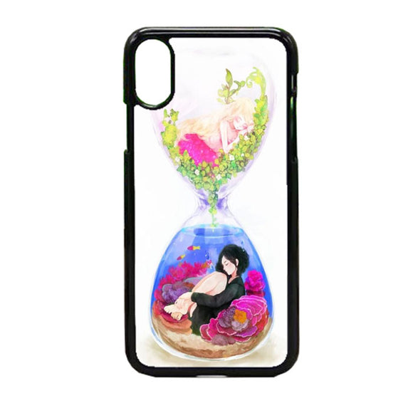 Anime In An Hourglass Art iPhone X Case | Frostedcase