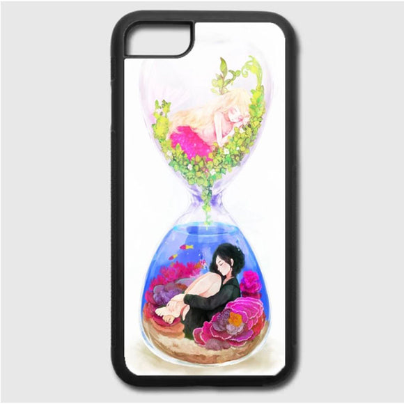 Anime In An Hourglass Art iPhone 7 Case | Frostedcase