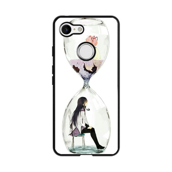 Anime Girl In Glass Bottle Google Pixel 3 Case | Frostedcase