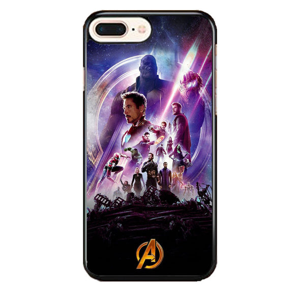 Avengers Infinity War Poster Purple iPhone 8 Plus Case | Frostedcase