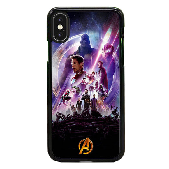 Avengers Infinity War Poster Purple iPhone X Case | Frostedcase