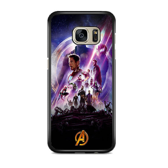 Avengers Infinity War Poster Purple Samsung Galaxy S7 EDGE Case | Frostedcase
