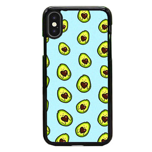 Avocado Cartoon Cute Pattern iPhone X Case | Frostedcase