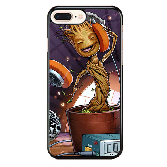 Baby Groot I Am Guardians Of The Galaxy Rocket Art iPhone 8 Plus Case | Frostedcase