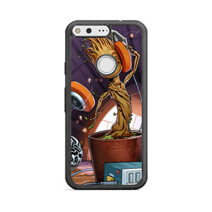 Baby Groot I Am Guardians Of The Galaxy Rocket Art Google Pixel Xl Case Frostedcase