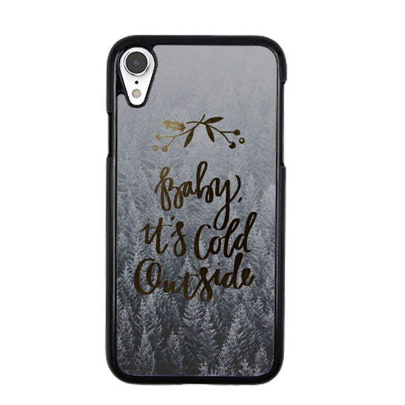 on sale e3b20 fdbce Baby Its Cold Outside iPhone XR Case | Frostedcase