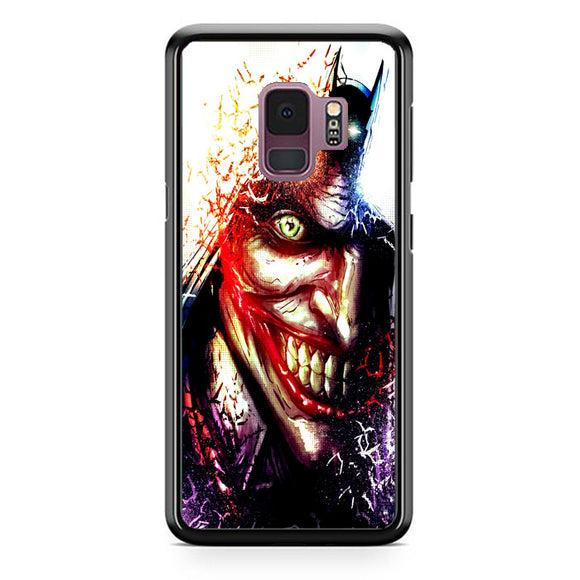 Batman And Joker Art Samsung Galaxy S9 Case | Frostedcase