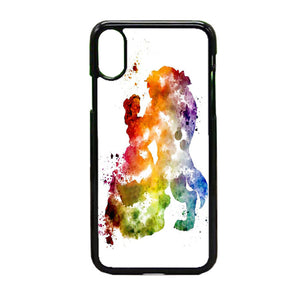 Beauty And The Beast Paint iPhone X Case | Frostedcase