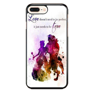 Beauty And The Beast Watercolour iPhone 8 Plus Case | Frostedcase