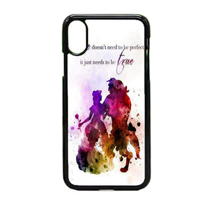 Beauty And The Beast Watercolour iPhone X Case | Frostedcase