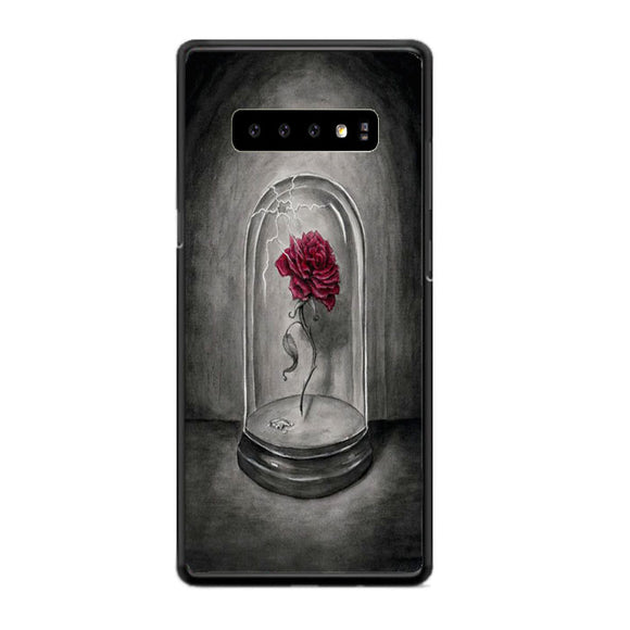 Beauty And The Beast Rose Drawing Samsung Galaxy S10 Plus Case | Frostedcase