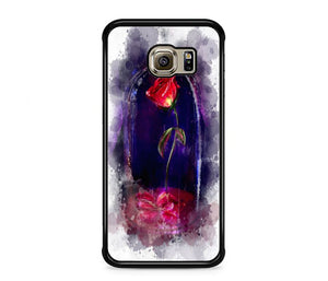 new concept 5ad4a 6967f Beauty And The Beast Rose Painting Samsung Galaxy S6 EDGE Case   Frostedcase
