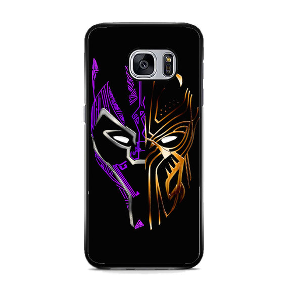 Black Panther Golden Purple Samsung Galaxy S7 Case | Frostedcase