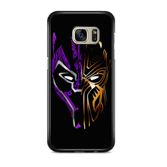 Black Panther Golden Purple Samsung Galaxy S7 EDGE Case | Frostedcase