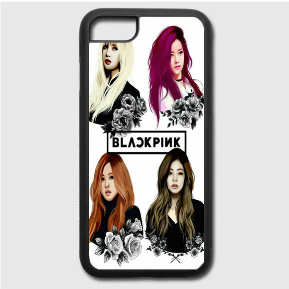 Black Pink Art iPhone 7 Case | Frostedcase