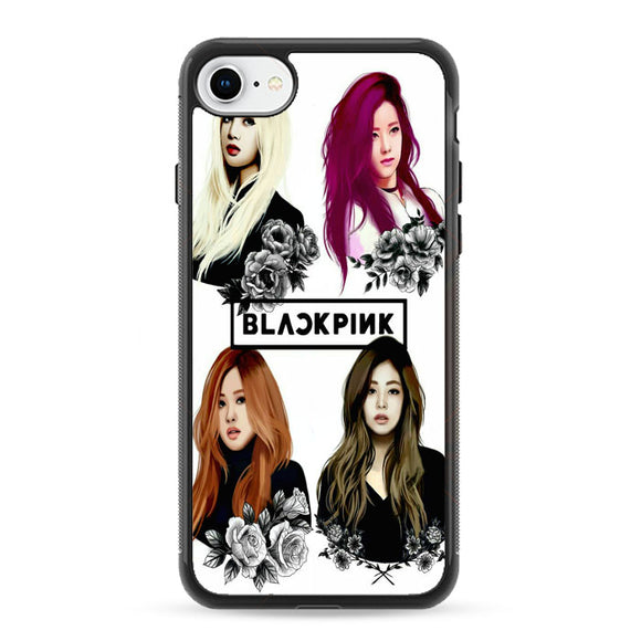 Black Pink Art iPhone 8 Case | Frostedcase