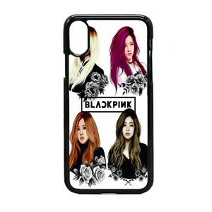 Black Pink Art iPhone X Case | Frostedcase