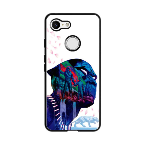 Black Panther Art Flower Google Pixel 3 Case | Frostedcase