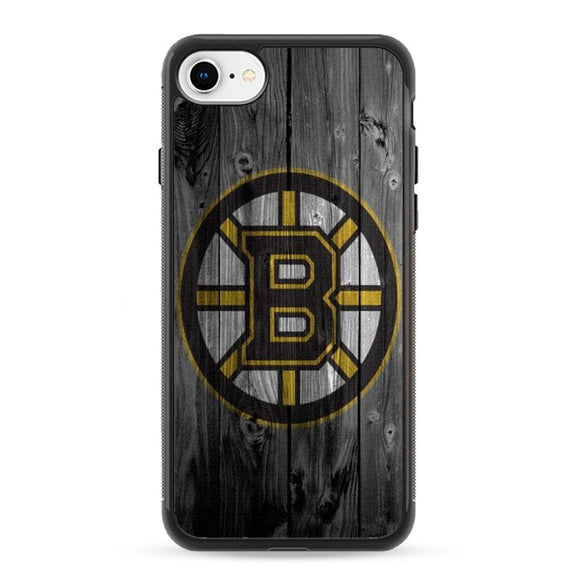 Boston Bruins Hockey Wooden Emblem iPhone 8 Case | Frostedcase