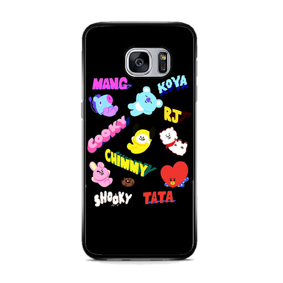 Bt21 All Character Name Samsung Galaxy S7 Case | Frostedcase