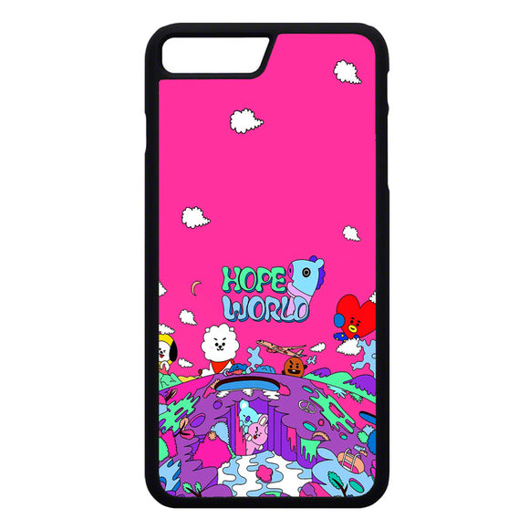 Bt21 Hope World Pink iPhone 7 Plus Case | Frostedcase