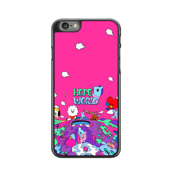 Bt21 Hope World Pink iPhone 6 Plus|6S Plus Case | Frostedcase