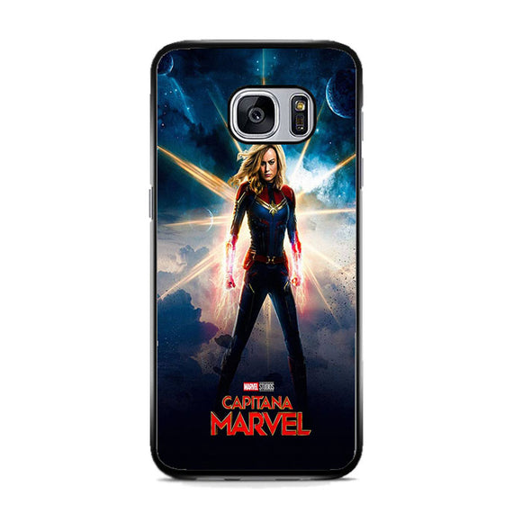 Captain Marvel Poster Galaxy Samsung Galaxy S7 Case | Frostedcase