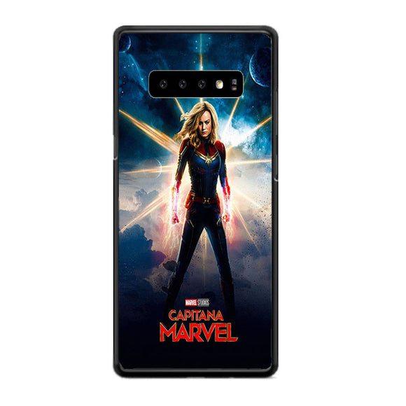 Captain Marvel Poster Galaxy Samsung Galaxy S10 Case | Frostedcase