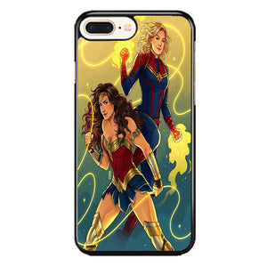 Captain Marvel Vs Wonder Woman iPhone 8 Plus Case | Frostedcase