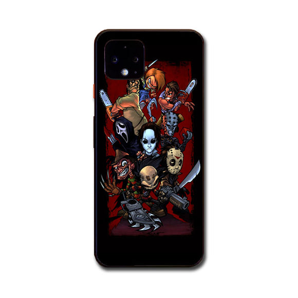 Cartoon Horror Movie Characters Google Pixel 4 XL Case | Frostedcase