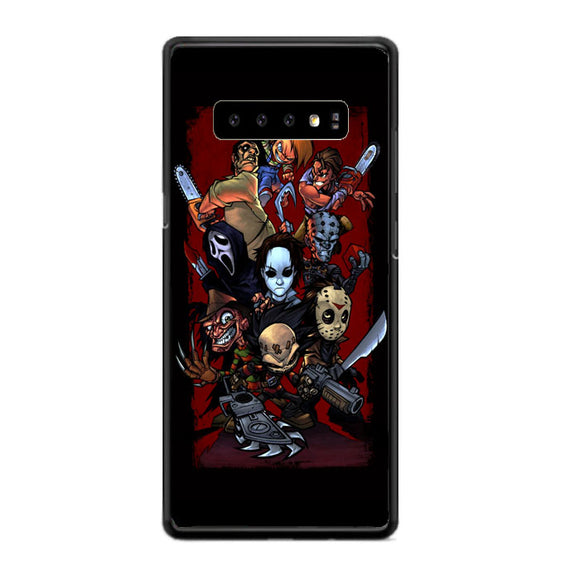 Cartoon Horror Movie Characters Samsung Galaxy S10 Case | Frostedcase