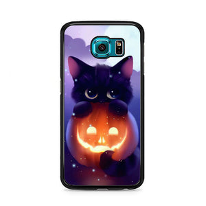 detailed look 24df1 22d61 Cat Halloween Illustration Samsung Galaxy S6 Case | Frostedcase