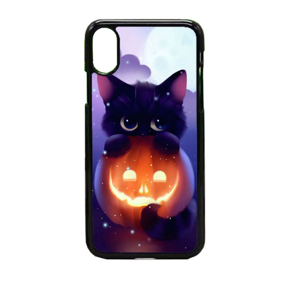 Cat Halloween Illustration iPhone X Case | Frostedcase