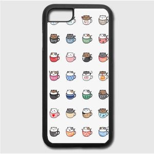 Cats In Cups Drawing iPhone 7 Case | Frostedcase