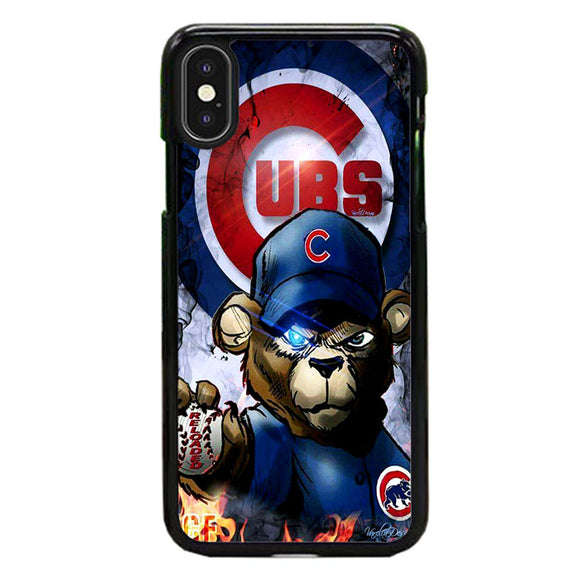 Chicago Cubs Bear Fire iPhone XS Max Case | Frostedcase