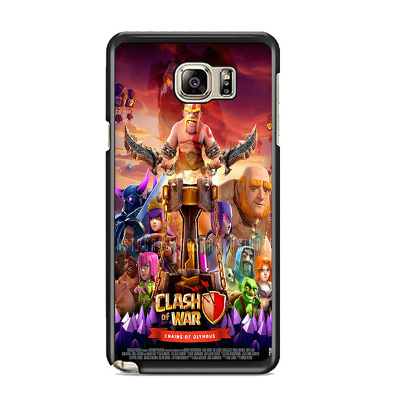 Clash Of Clans Poster Samsung Galaxy Note 5 Case | Frostedcase
