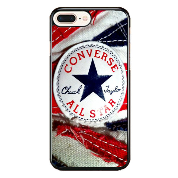 Converse All Star Chuck Taylor Red And Blue Flag iPhone 8 Plus Case | Frostedcase