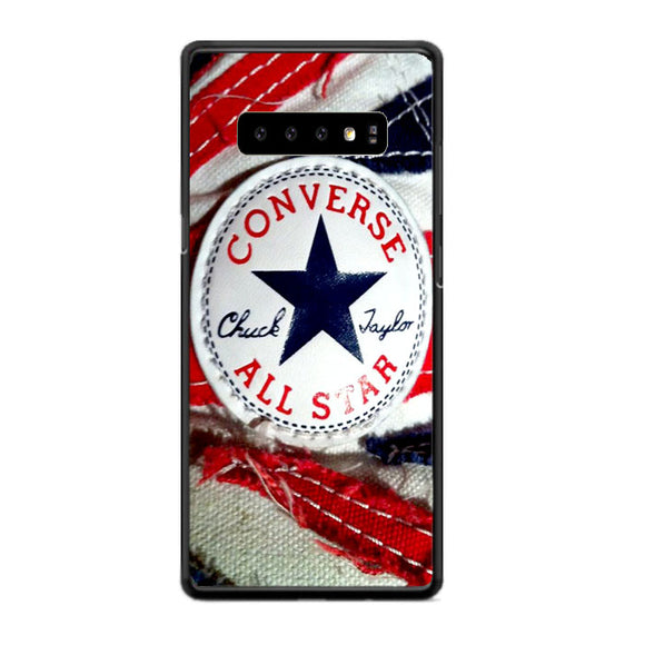 Converse All Star Chuck Taylor Red And Blue Flag Samsung Galaxy S10 Case | Frostedcase
