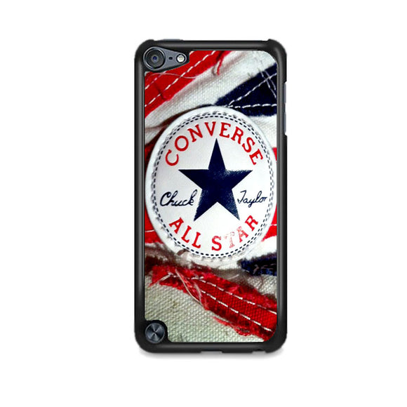 Converse All Star Chuck Taylor Red And Blue Flag iPod 5 Case | Frostedcase