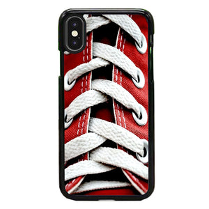 Converse Red Shoelace Of High Waist iPhone X Case | Frostedcase